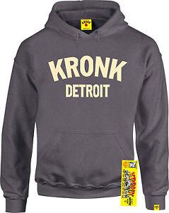 Sport Kronk Antracite Detroit Da Felpa Uomo Lunga Manica Box Con Cappuccio UYZwgHq1Y