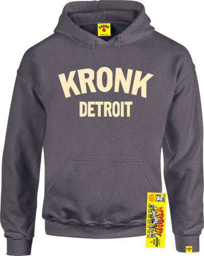 Kronk Boxing Men/'s long sleeve Detroit sports Hoodie sweatshirt Charcoal