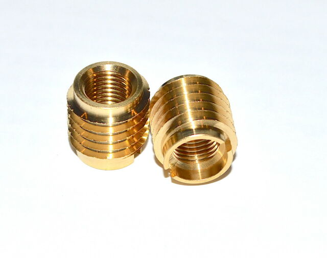 5//16-18 Internal Threads 25mm Length E-Z Lok Threaded Insert Pack of 25 Zinc Hex-Flanged