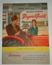 Massey Harris Buyers Guide Sales Brochure Manual 203044amp55 Tractors Full Line