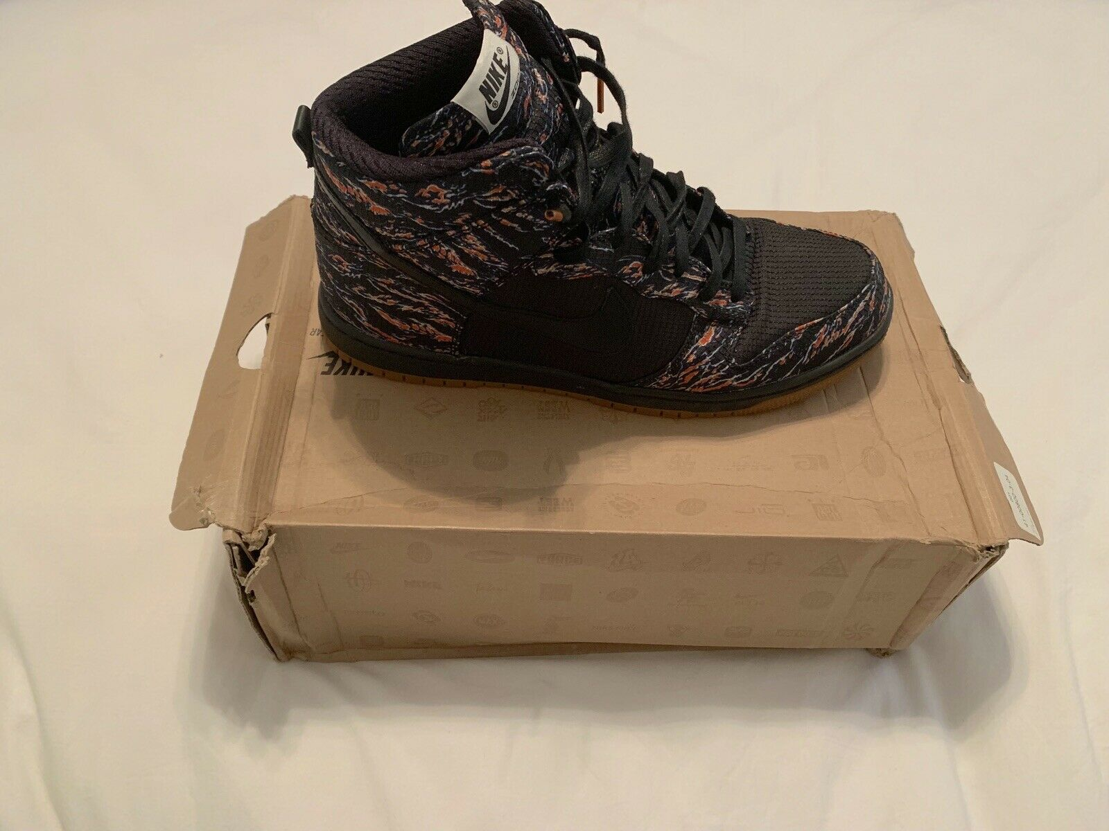 Nike Supreme Tiger Camo Dunk Rare Size 12