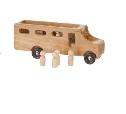 SCHOOL BUS with STUDENTS - Working Wood Play Toy Toy Toy Amish Handmade in USA f4f8f0