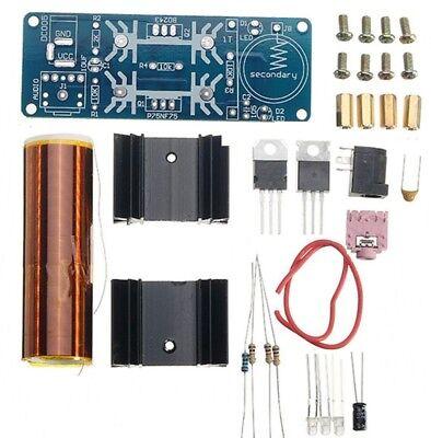 Mini Tesla Spule Musik Lautsprecher Transformator 15-24V 15W zum Löten Bausatz