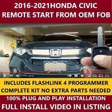 Plug Amp Play Remote Start 2016 2021 Honda Civic Fits Honda