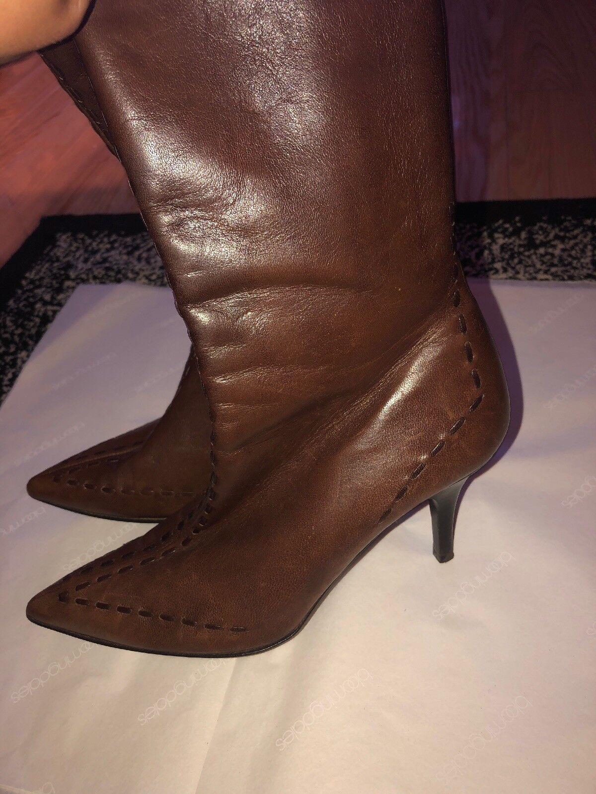 Banfi Zambrelli Braun Leder booties 7.5 with full zipper Größe 7.5 booties Made In  c0a055