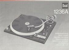 DUAL 1236A Plattenspieler DMS220 Bedienungsanleitung