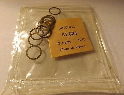 1 Pkg Of 12 Mitchell 300 301 Fishing Reel Shims Head To Housing Nos 81024 .015 50% Korting