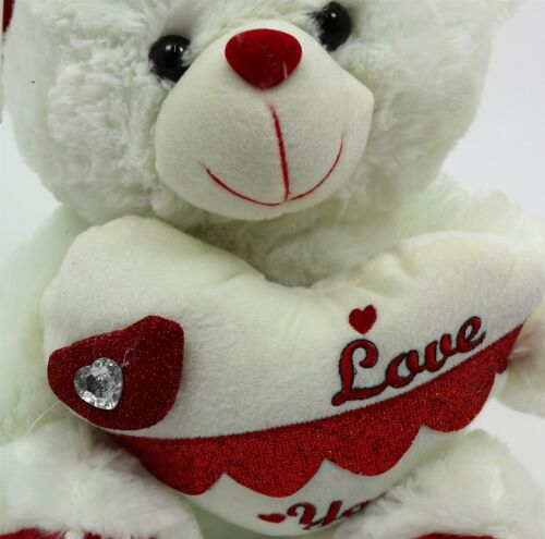40cm Large Teddy Bears Holding Heart Valentine Gifts Soft Cute Plush Toys Kids