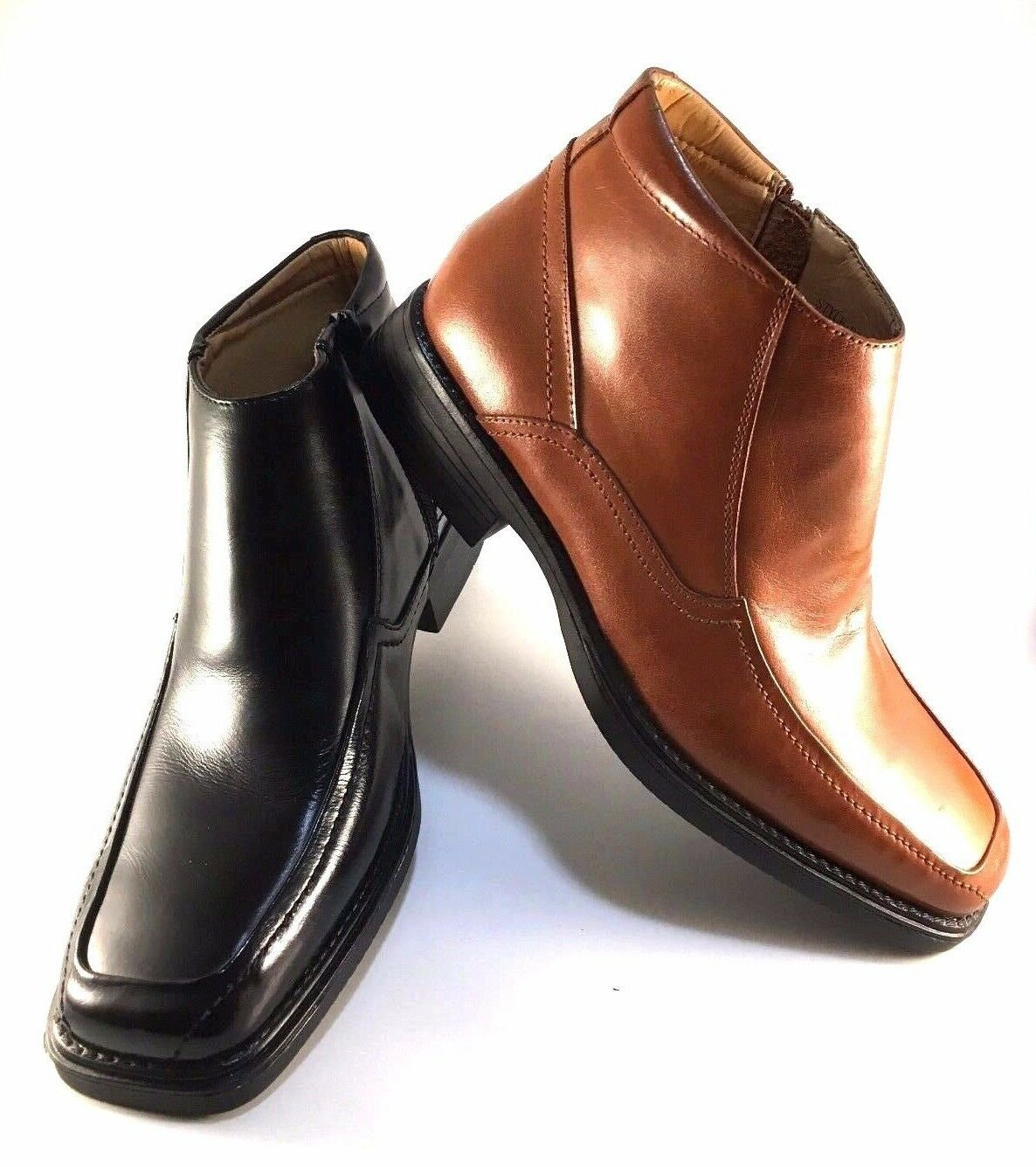 La Milano B5506 Tan Leather Men's Dressy Ankle Boots