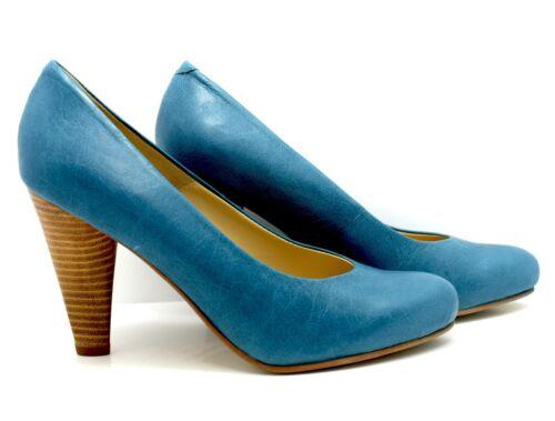 Blu Celeste donna tacco Varie alto Taglie pelle Décolleté in blu Noe con Décolleté 8wxnCAn
