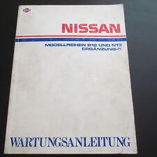 Werkstatthandbuch Nissan Sunny N13 & B12 Coupe Ergänzungsband IV