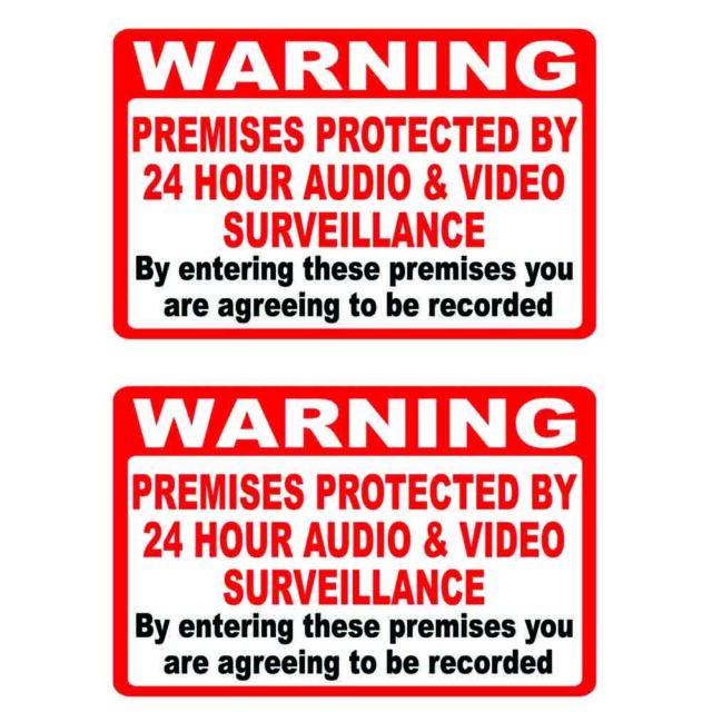 Sticker 300mm x 100mm MISC3 Camera Warning Security CCTV Sign