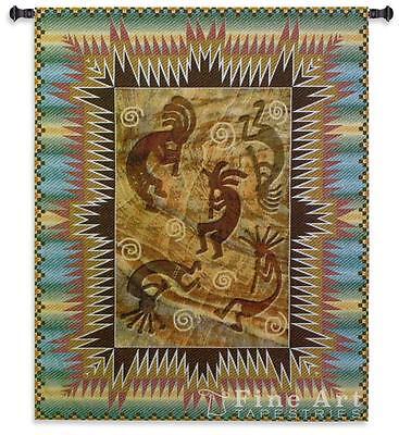 Kokopelli Gecko Southwestern Tapestry Wall Hanging Bellpull