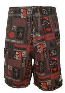 SHORT-DE-BAIN-STAR-WARS-HOMME-ROUGE-NOIR