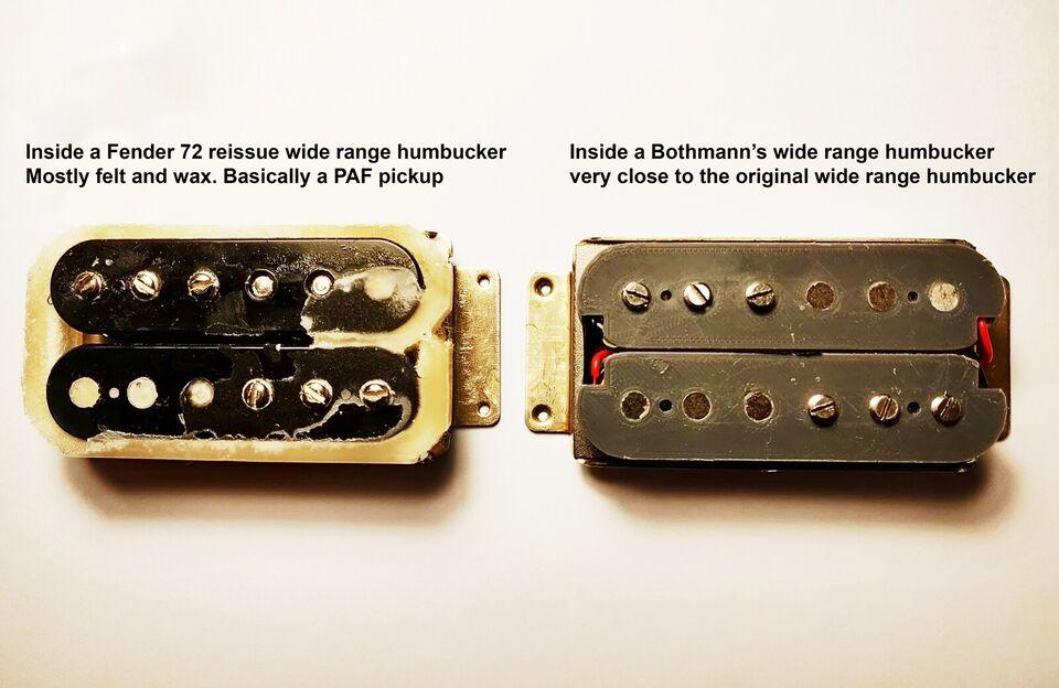 wide range humbucker, Fender 72 reissue pickup