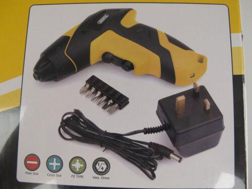 Draper 3,6 v tournevis sans fil kit complet avec led worklight ** grand prix **
