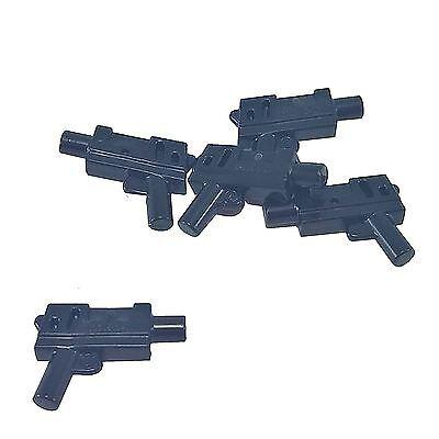 Lego 20 New Black Minifigure Weapon Guns Pistol Automatic Medium Barrel Parts