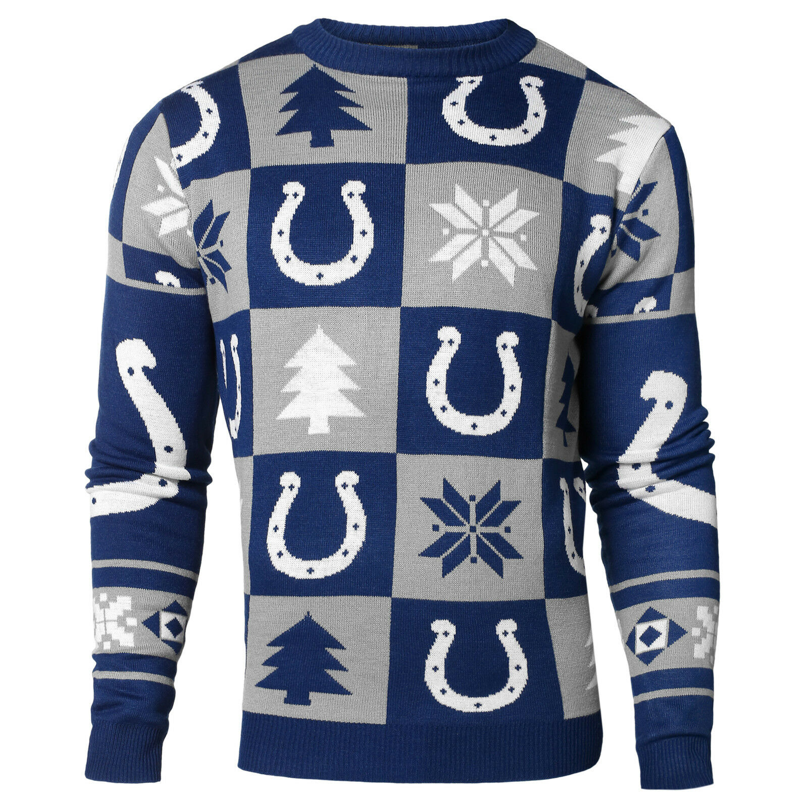 NFL Ugly Sweater Pullover Christmas Style Indianapolis Colts patch football