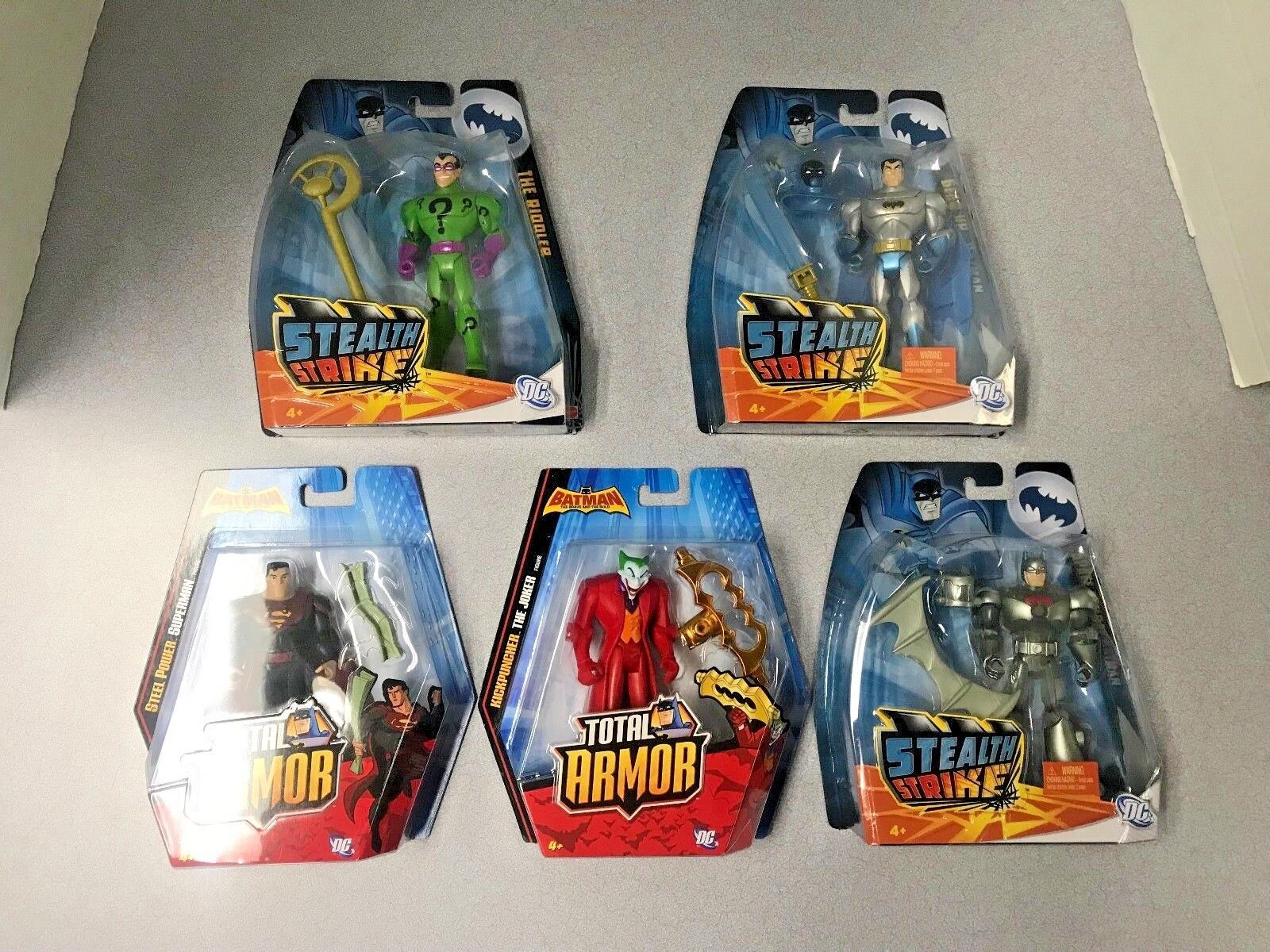 Batman Brave and the Bold Total Armor & Stealth Strike Figure Lot of 5 - NEW