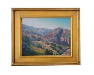 Matthew M Reynolds Listed California Plein Air Mountain Landscape Oil Painting