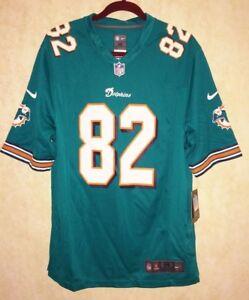NIKE NFL Players Miami Dolphins  82 Brian Hartline Aqua Football ... 8ca656bca