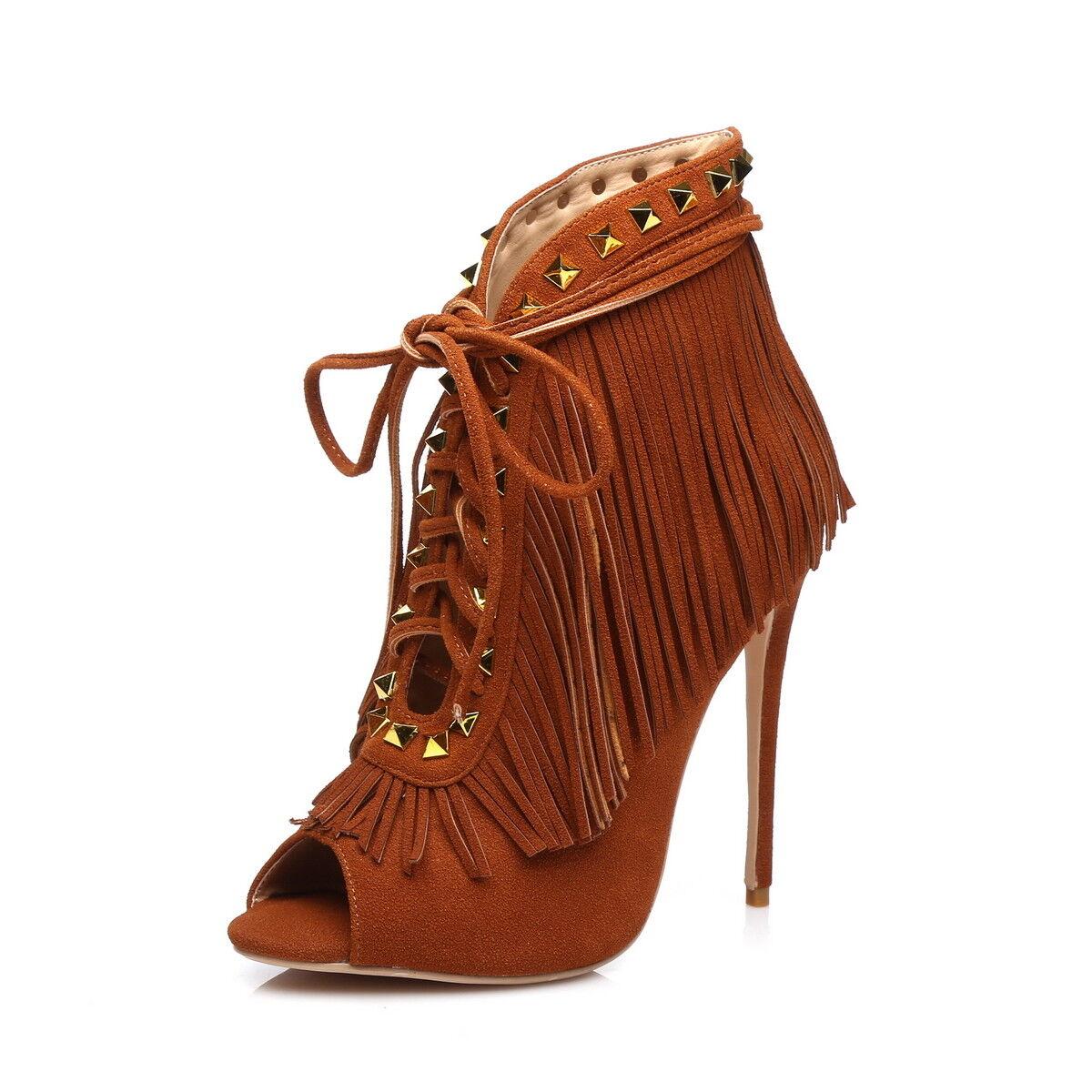 Giaro Sandali in taglie forti grandi scarpe da donna Marroneee XXL