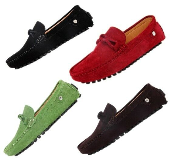 Fashion Mens Breathable Slip On Loafers Casual Faux Suede Driving Moccasin shoes