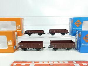 Bj63-0,5 #4x Roco H0 / Dc Wagon De Marchandises Db : 4314 4309 4303 A