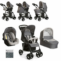 Hauck Shopper Trio Slx Pushchair Travel System Stone / Grey From Birth