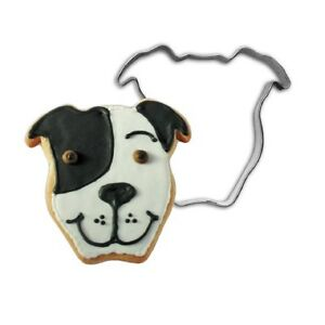 Pit Bull Cookie Cutter (Face Natural Ears)