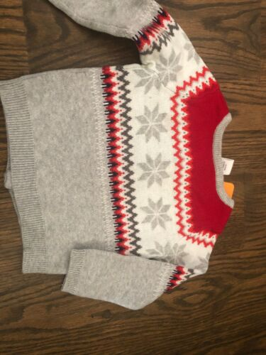 NWT Gymboree baby girl red gray HOLIDAY cardigan sweater 6 9 12 18 24 2T 4T 5T