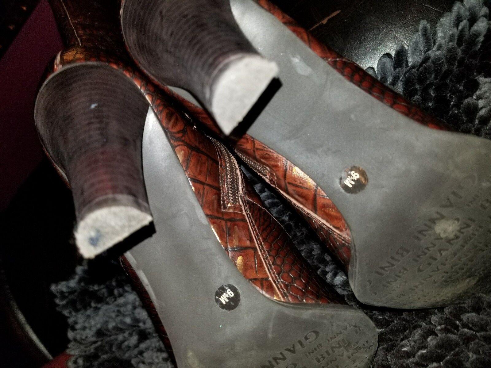 Gianni Bini croco croco croco embossed botas sz 9 20d72c