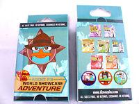 Disney Agent P World Showcase Adventure & Sealed 2-pin Mystery Box