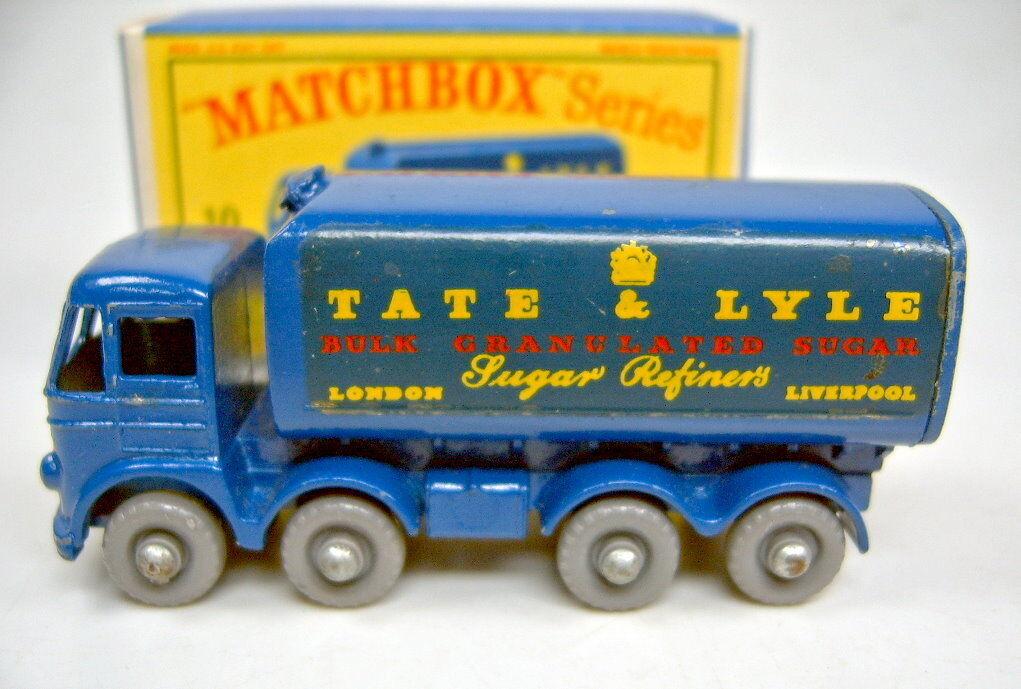 Matchbox Matchbox Matchbox RW 10 C Sugar Conteneur BLEU GRIS roues dans