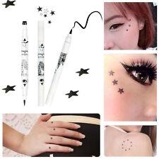 Black Waterproof Liquid Eyeliner Star Tattoo Stamp Eye Liner Pencil Long-lasting