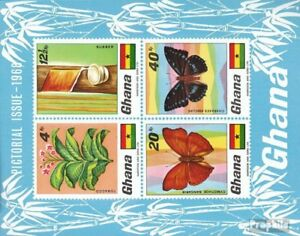 Unmounted Mint Ghana Block31 complete.issue. Never Hinged 1968 Flora And Flo Soft And Light