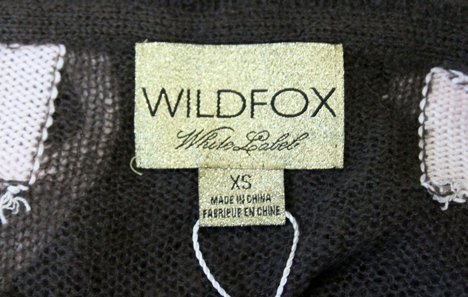 NEW WILDFOX COUTURE JUDGEMENT CROSS KNIT KNIT KNIT SHEER SWEATER JUMPER TUNIC TOP 845f1e