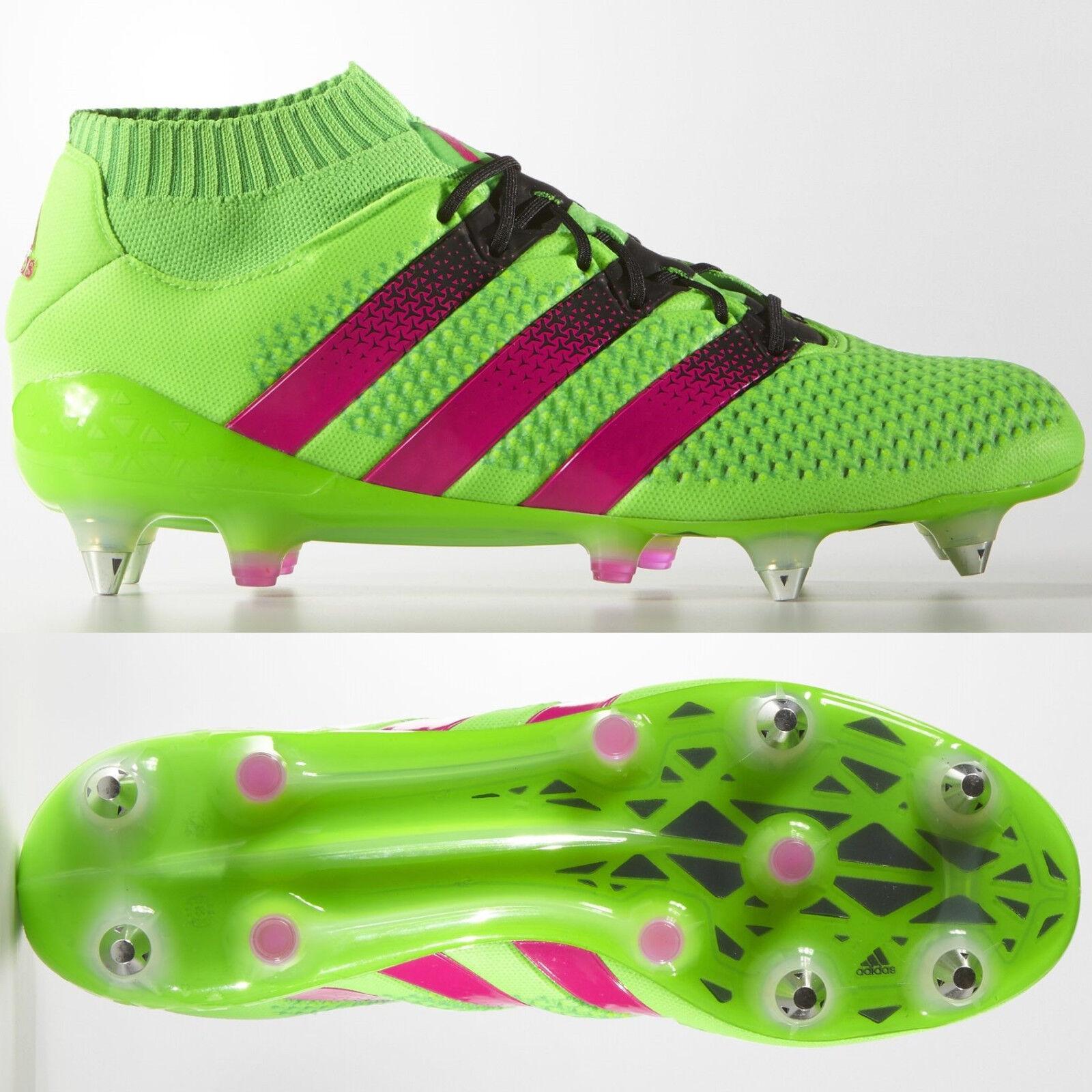 Adidas ACE 16.1 Primeknit SG para Hombre botas De Fútbol verde terreno blando  RRP