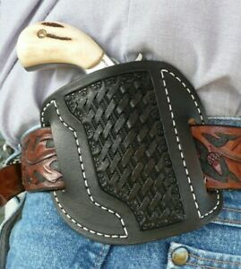 Leather-Cross-Draw-Holster-NAA-Ranger-II-North-American-Arms-Ruff-039-s-Black