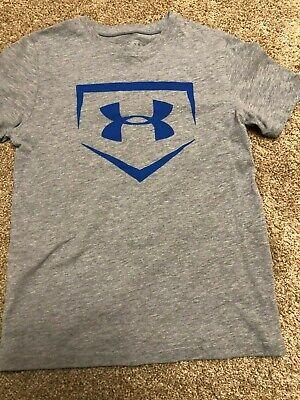 New Under Armour Youth Boys baseball icon t-shirt Sz Large