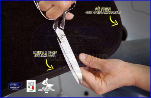 Tappetini tappeti per Peugeot 107 da 2005 a 2012 set moquette auto fondo Grip