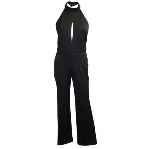 Jumpsuit Gamba uk Black Halter Selfridge Miss Catsuit 4 Neck 16 larga UqFWEw6xw