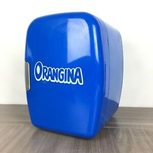 petit mini frigo orangina bleu canette voiture portable. Black Bedroom Furniture Sets. Home Design Ideas
