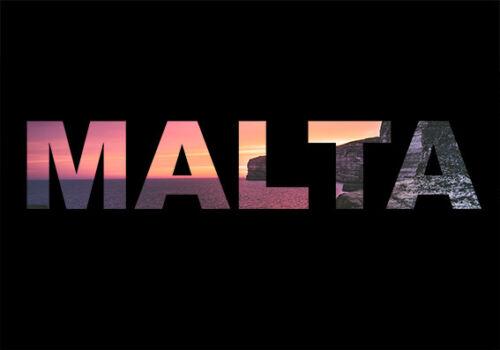 11061 Malte Métal Plaque Murale Signe