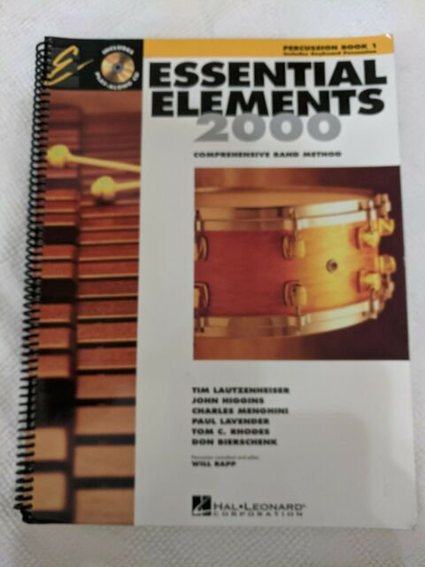 ESSENTIAL ELEMENTS FOR BAND PERCUSSION BOOK 1 **BRAND NEW**