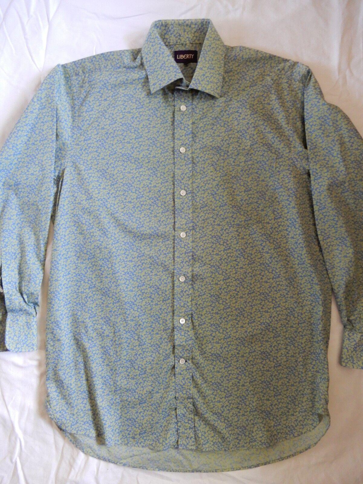 LIBERTY MANS SHIRT TANA LAWN 100% cotton fabric 16 1 2