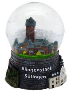 Schneekugel-Solingen-Klingenstadt-Schloss-Kunstmuseum-Snowglobe-Germany-Souvenir