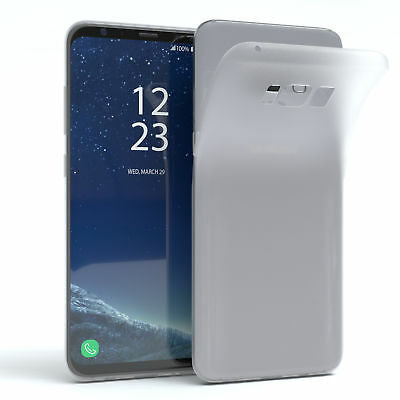 Schutz Hülle für Samsung Galaxy S8 Plus Cover Handy Case Matt Transparent