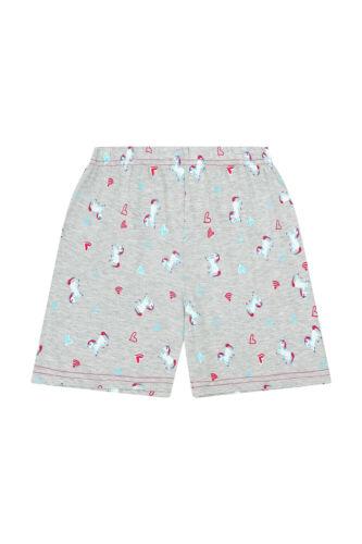 Lie Ins Unicorns Besties Wifi Girls SHORT Pyjamas Pink Pj 9-16 Years