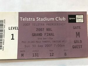 NRL-Grand-Final-Match-Used-Ticket-2007-Manly-vs-Melbourne-Storm-FREE-P-amp-H